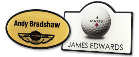 Shaped Name Badges | www.namebadgesinternational.ae